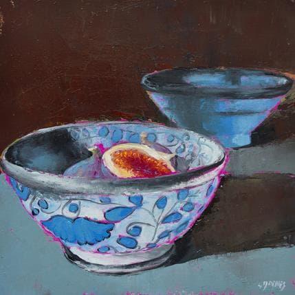 Géraldine Morales Bols bleus 25 x 25 cm