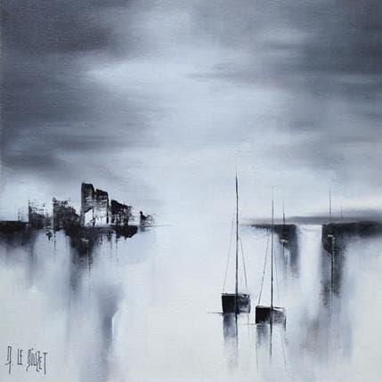 Albert Le Diuzet Compo Noir et Blanc 60 36 x 36 cm