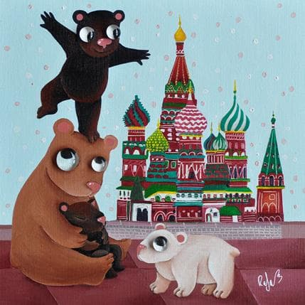 Raphaële Lennoz Les ours de la place rouge 25 x 25 cm
