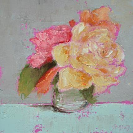 Morales Géraldine 3 roses 13 x 13 cm