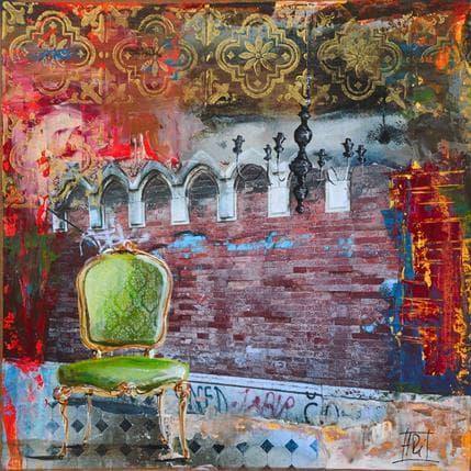 Anne Pivot-Iafrate Déambulation à Venise 36 x 36 cm