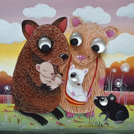 Raphaële Lennoz Histoire de cochon d'indes 19 x 19 cm