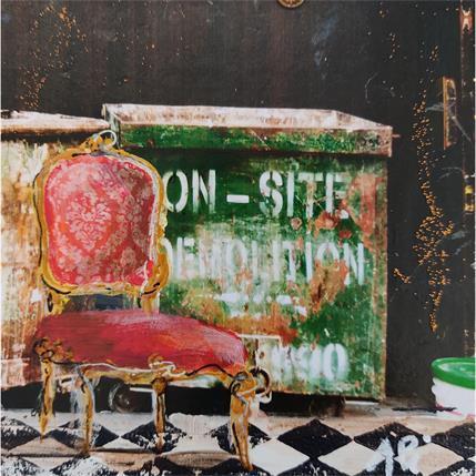 Anne Pivot-Iafrate L'escalier 13 x 13 cm