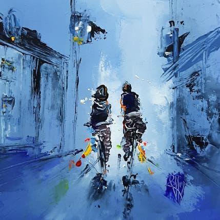 Christian Raffin La ville en bleu 19 x 19 cm