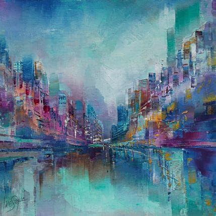 Emmanuelle Levesque Le mouvement de l'eau 25 x 25 cm