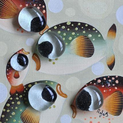 Raphaële Lennoz Les poissons amoureux 13 x 13 cm