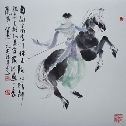 Sanqian Horse riding 36 x 36 cm