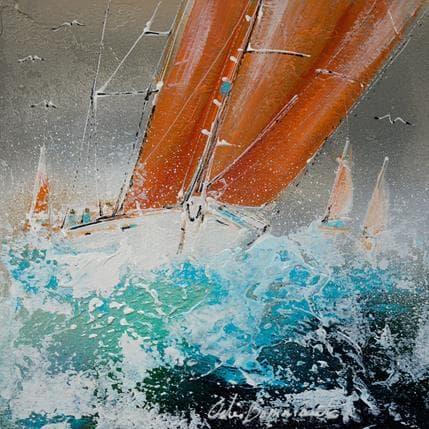 Nicole Ortis-Bommarito Voile Orange 25 x 25 cm