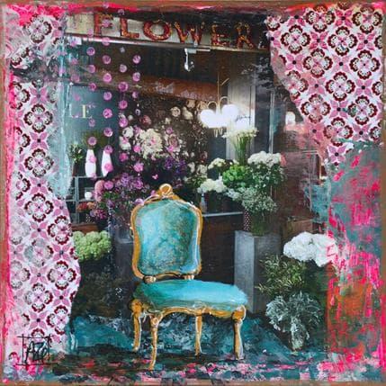 Anne Pivot-Iafrate Flowers 19 x 19 cm