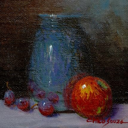 Chico Souza Silver apple and grape 13 x 13 cm