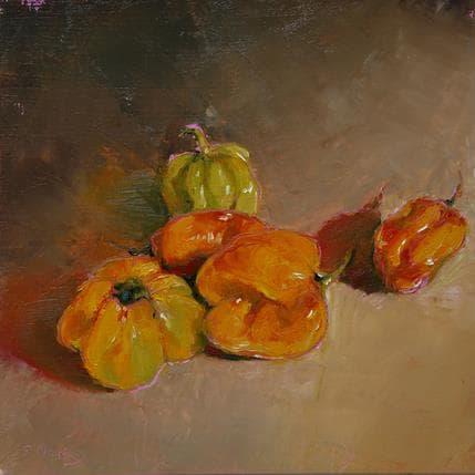 Géraldine Morales 5 piments 25 x 25 cm