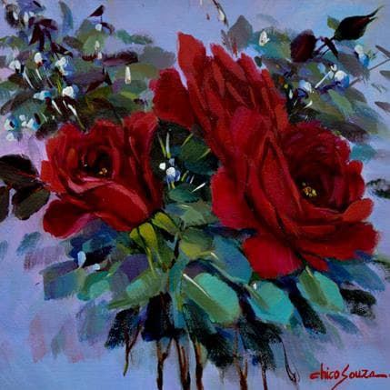 Chico Souza Rosas Vermelhas 25 x 25 cm