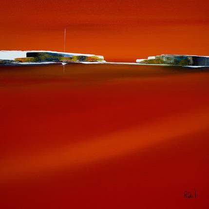 Marie-Ange et Fanny Roussel Harmonie en rouge 36 x 36 cm