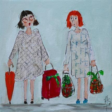 Françoise Soizeau Petite conversation au marché 19 x 19 cm