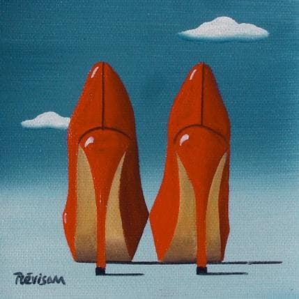 Carlo Trévisan The red lady 13 x 13 cm