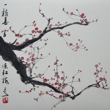 San Qian Red plums 25 x 25 cm
