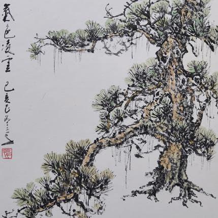 Sanqian A charming pine tree 19 x 19 cm
