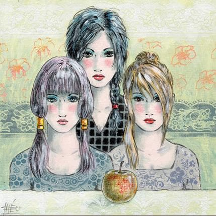 Théo La pomme mystique 25 x 25 cm