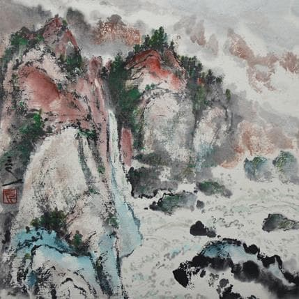 San Qian Cliffs 19 x 19 cm
