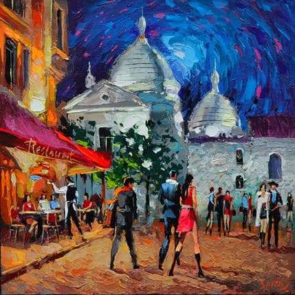 Dmitry Spiros Moonlight night 36 x 36 cm