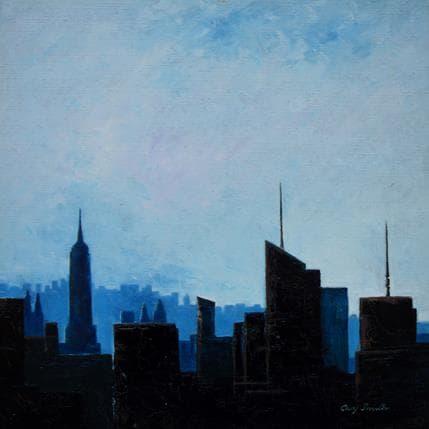 Gary Smith Manhattan Skyline 36 x 36 cm