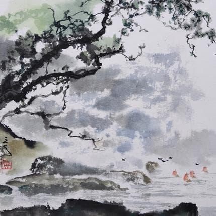San Qian Sailboats are coming 19 x 19 cm