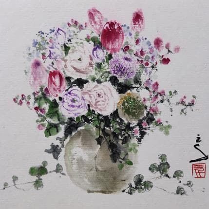 San Qian Beautiful flowers 13 x 13 cm