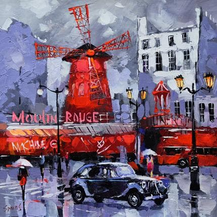 Dmitry Spiros On boulevard clichy 36 x 36 cm