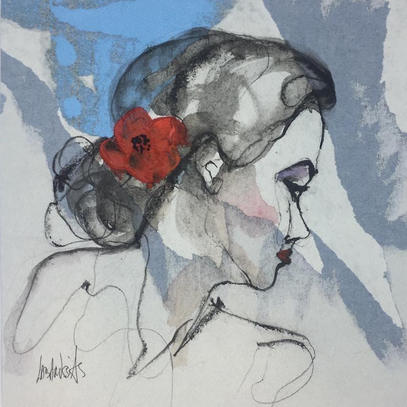 Portrait au coquelicot 13