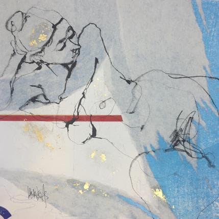 Corinne Labarussias Ligne rouge 15 36 x 36 cm