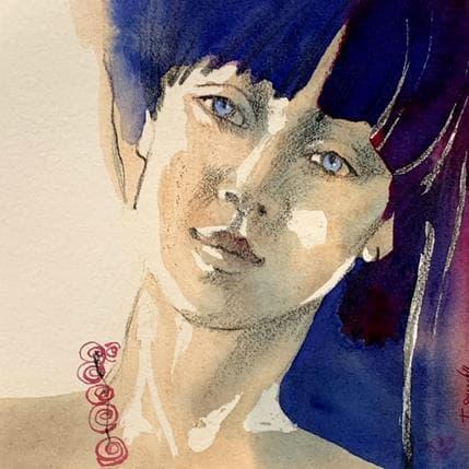 Isabelle Seruch Capouillez Portrait #1 13 x 13 cm