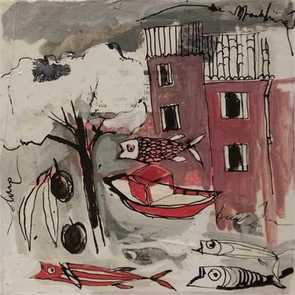 Cécile Colombo Barque rouge 13 x 13 cm