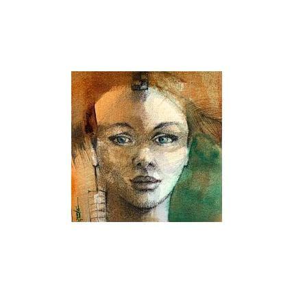 Isabelle Seruch Capouillez Portrait #3 13 x 13 cm