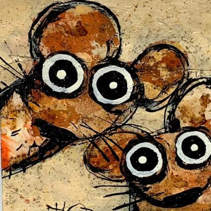 Hervé Maury 2 mice 13 x 13 cm