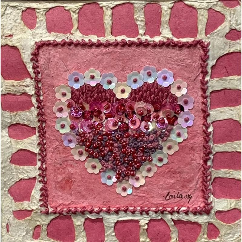 Pink heart with sequins