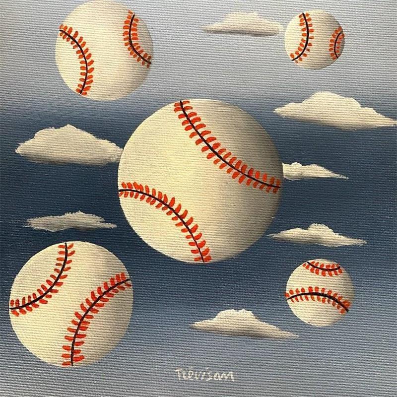 Baseball in the sky