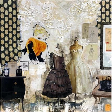 Karine Romanelli L'atelier 50 x 50 cm