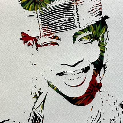 Valentine Louafi African Smile 25 x 25 cm
