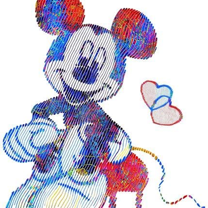 Virginie Schroeder Mickey falling in love with me 80 x 80 cm