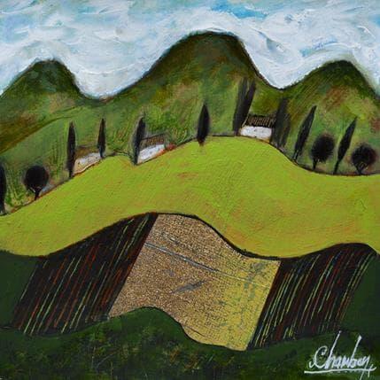 Michel Chambon Vers le ventoux 25 x 25 cm