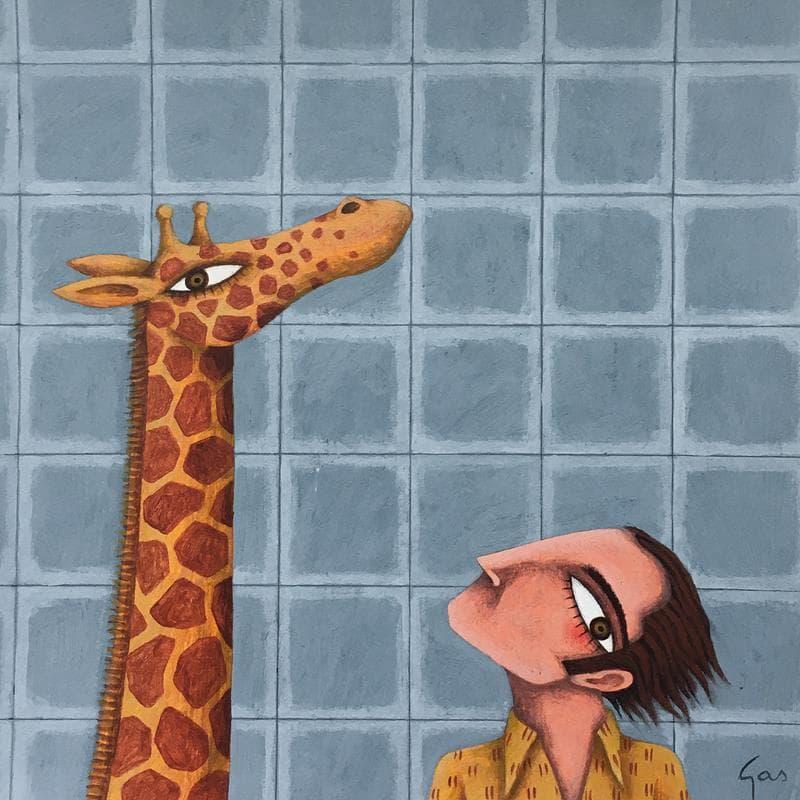 Una jirafa a la cuina