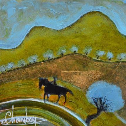 Michel Chambon Promenade en luberon 13 x 13 cm