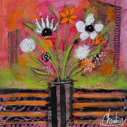 Michel Chambon Bouquet sauvage 19 x 19 cm