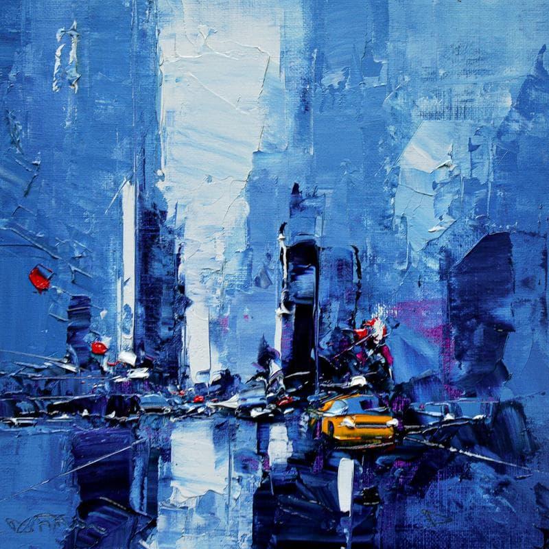 Taxi blue night