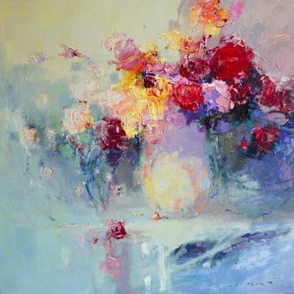 Ivica Petras Flowers 80 x 80 cm
