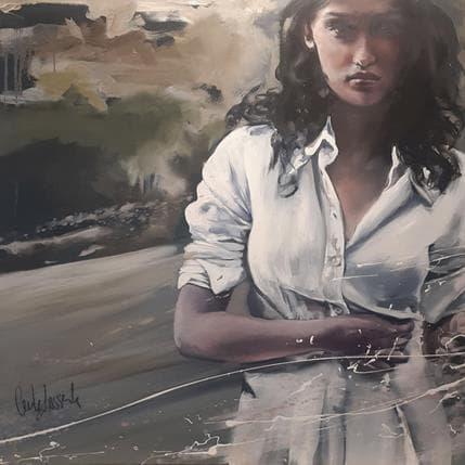 Cécile Desserle Le mystère 80 x 80 cm
