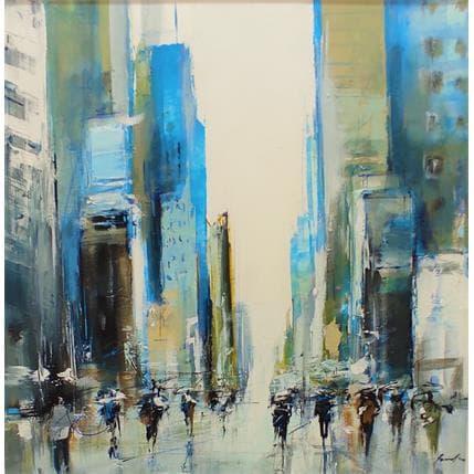 Richard Poumelin Blue city 2 25 x 25 cm