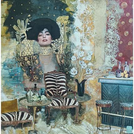 Karine Romanelli La rencontre 80 x 80 cm