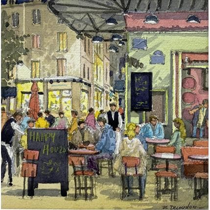 Jean-Charles Decoudun Paris les restos 19 x 19 cm