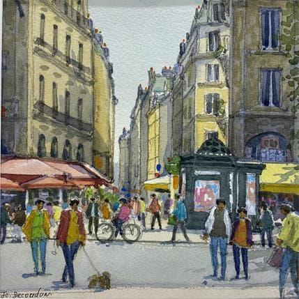 Jean-Charles Decoudun Paris St Michel 19 x 19 cm